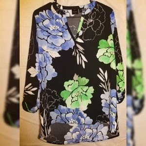 Womens Size Small Long Sleeves Floral Blouse
